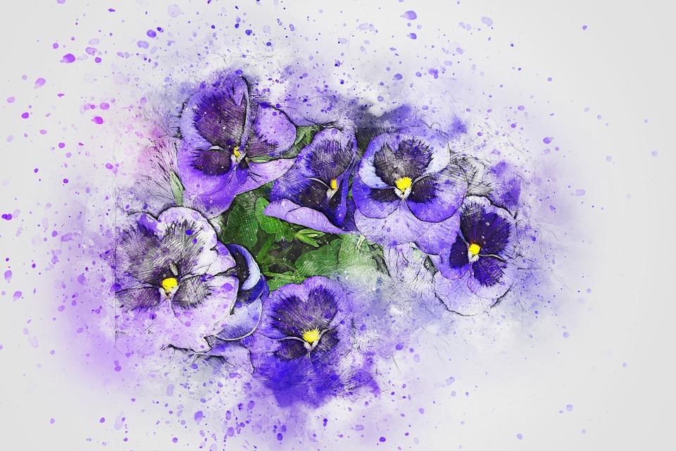květiny na potisk